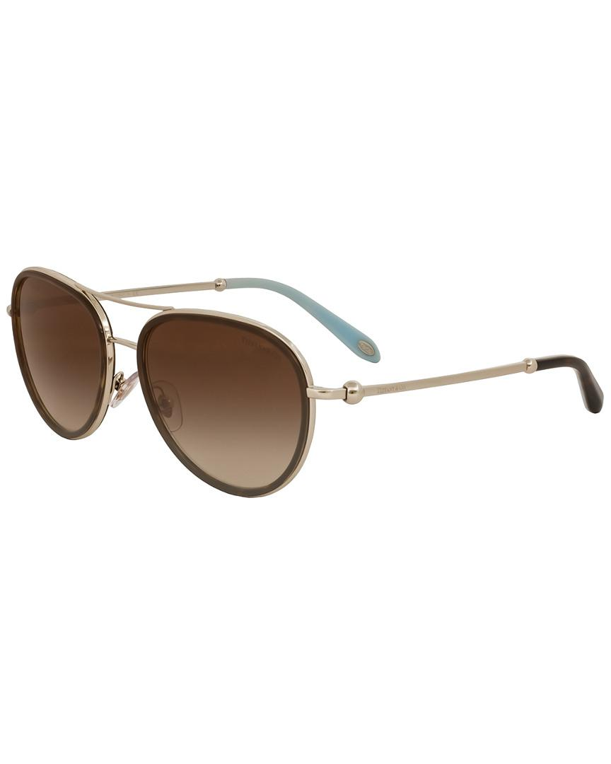 c94d76116a1b Lyst - Tiffany   Co   Co. Women s Tf3059 55mm Sunglasses in Brown