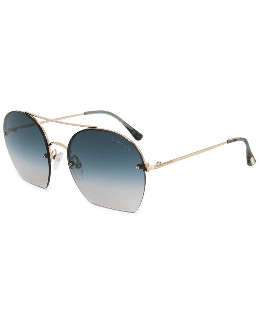 b9ee2b609437 Tom Ford Antonia Aviator Sunglasses Ft0506 28w 55