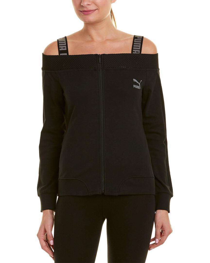 253eeb4a8e36 Lyst - PUMA Off-the-shoulder T7 Jacket in Black