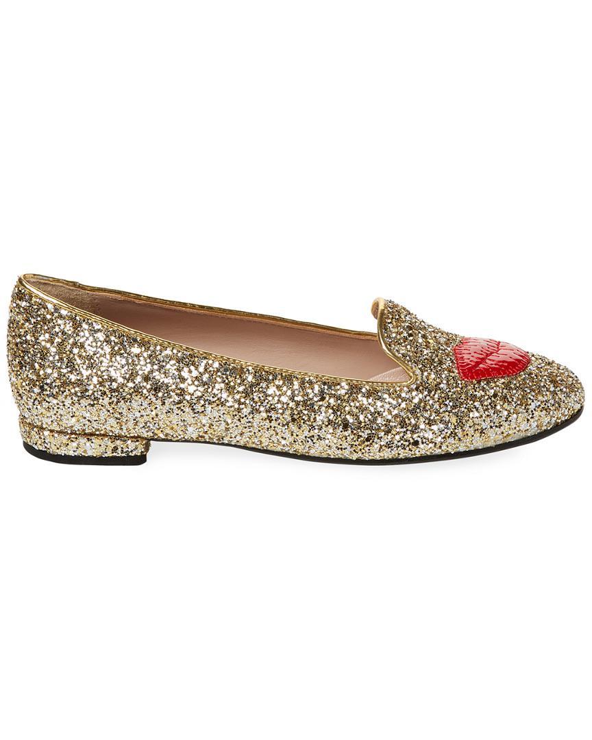 f3c1c14b223 Lyst - Chiara Ferragni Lipstick Glitter Loafer - Save 34.0%