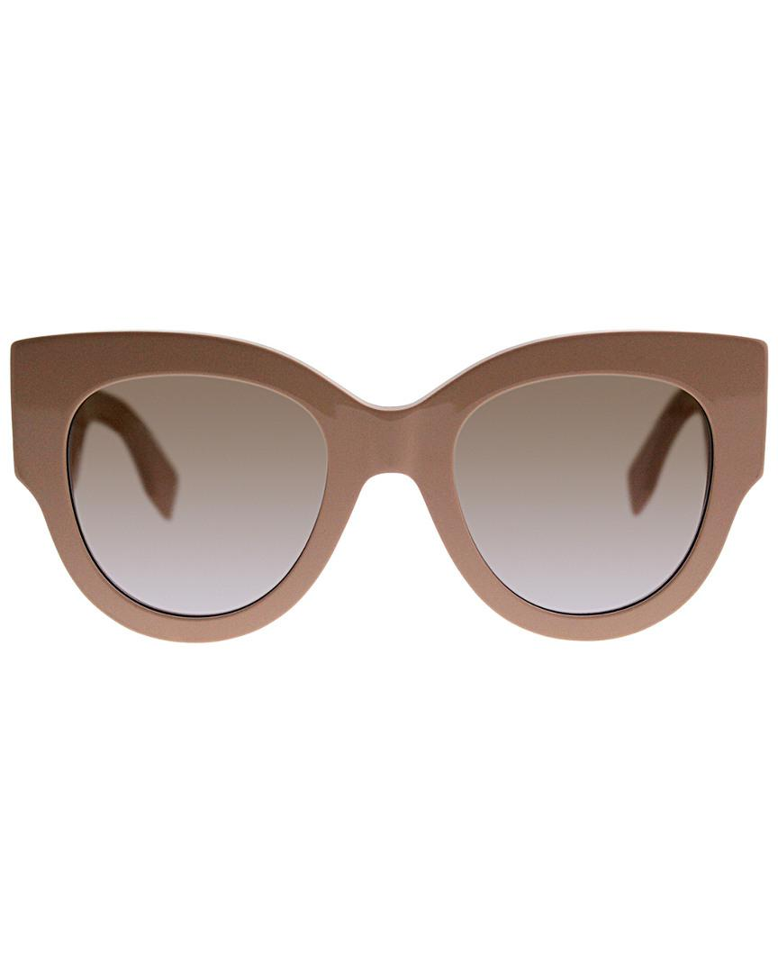 60e51b3dbf85 Lyst - Fendi Women s Ff0264 s 51mm Sunglasses in Brown
