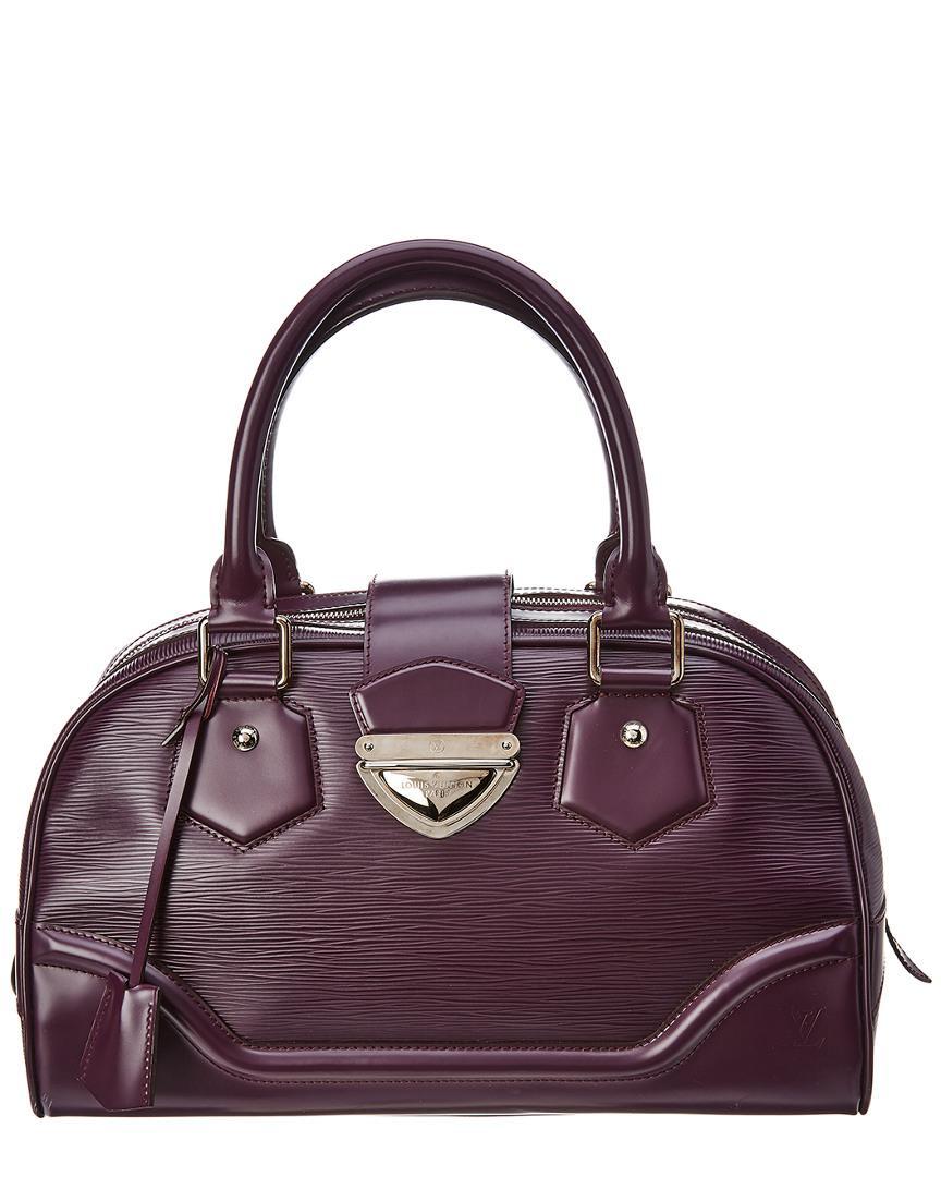 Lyst - Louis Vuitton Purple Epi Leather Bowling Montaigne Gm in ... 13d37534cb43f