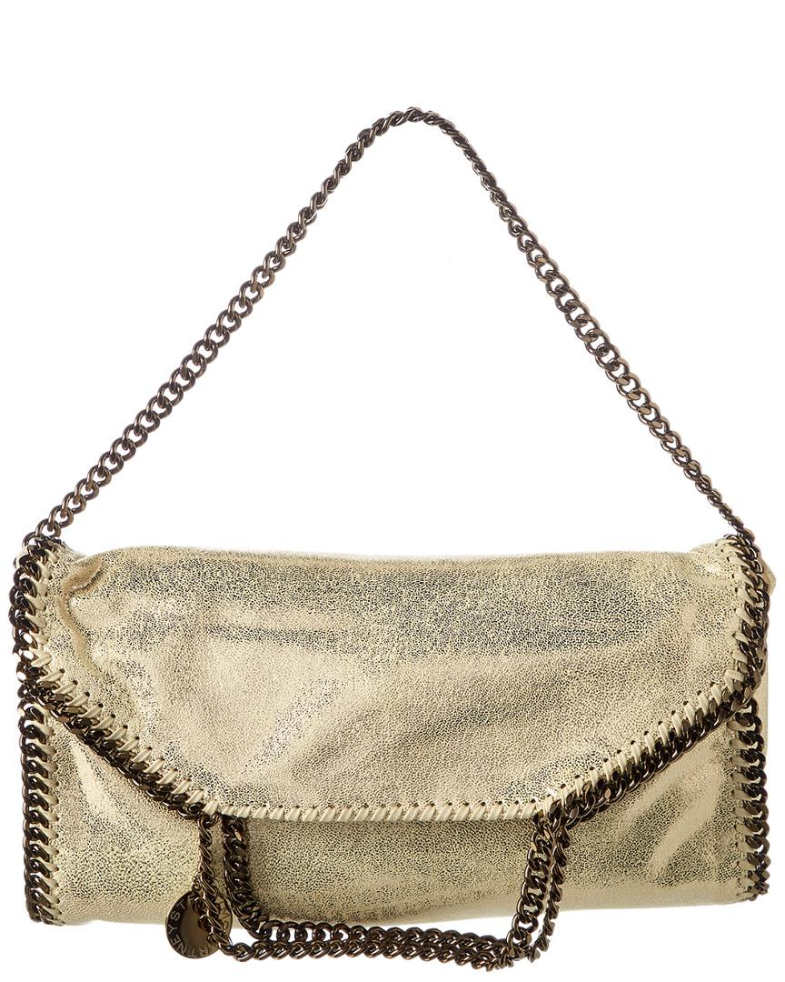 8d82f7a37c63 Stella Mccartney Falabella Chamois Fold Over Tote in Metallic - Save ...