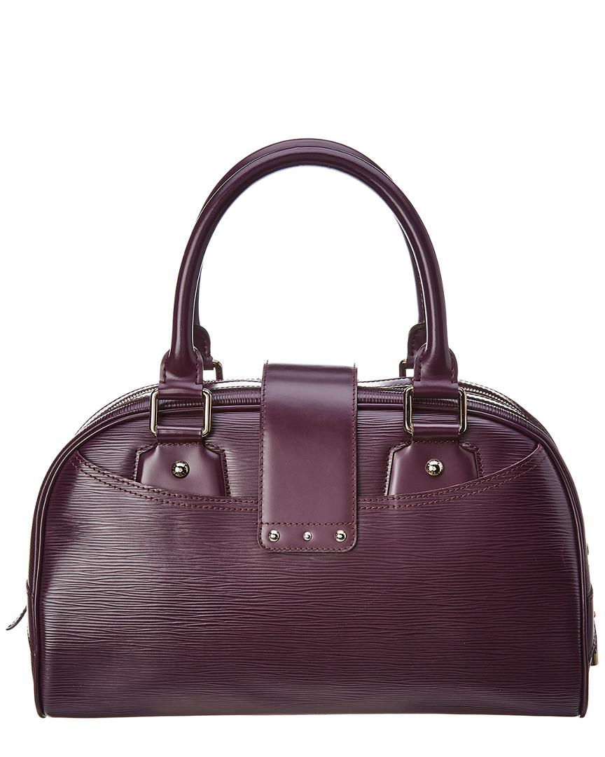 Lyst - Louis Vuitton Purple Epi Leather Bowling Montaigne Gm in Purple -  Save 8% f0b4f34317bc0