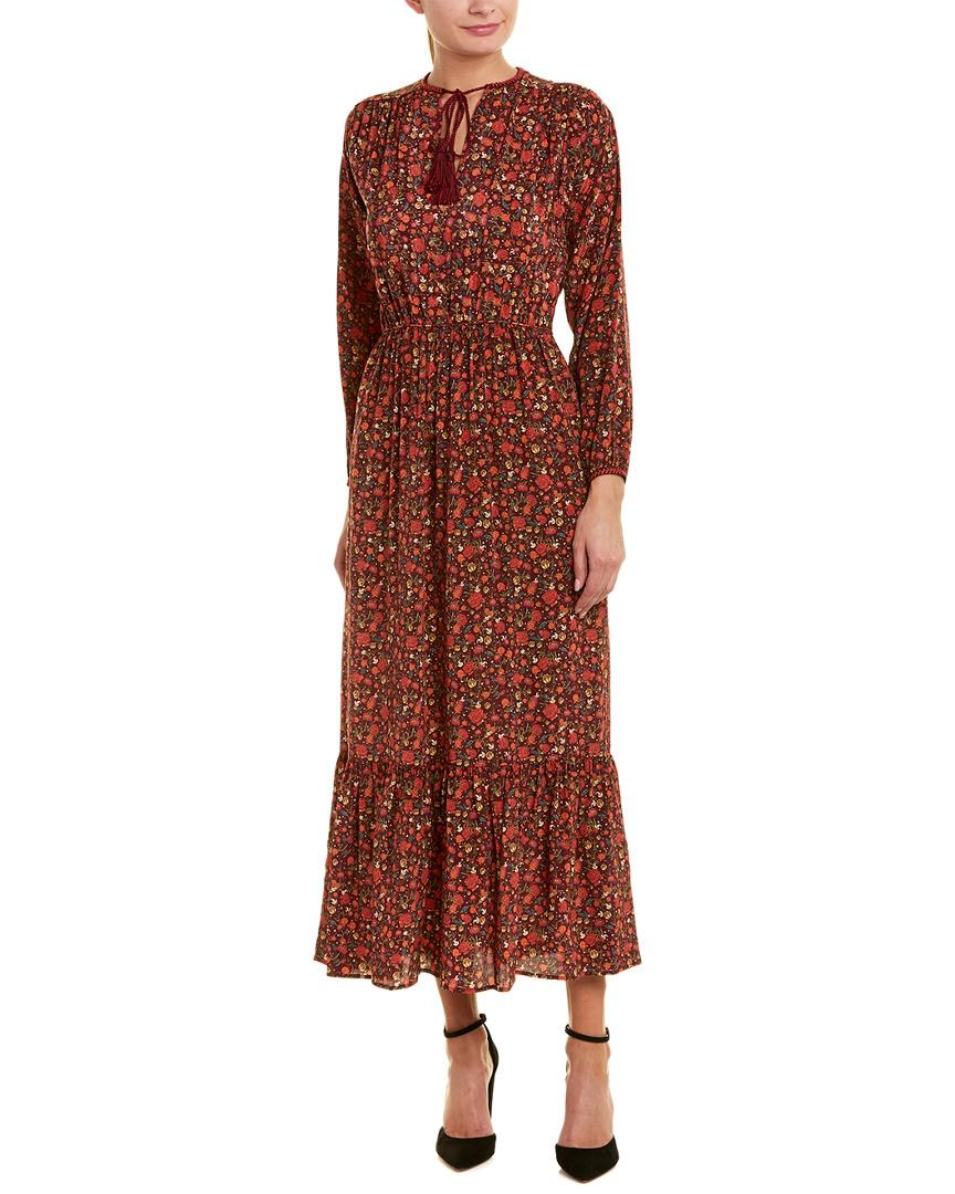 7d11e25b0 Lyst - The Kooples Floral Silk Maxi Dress in Red