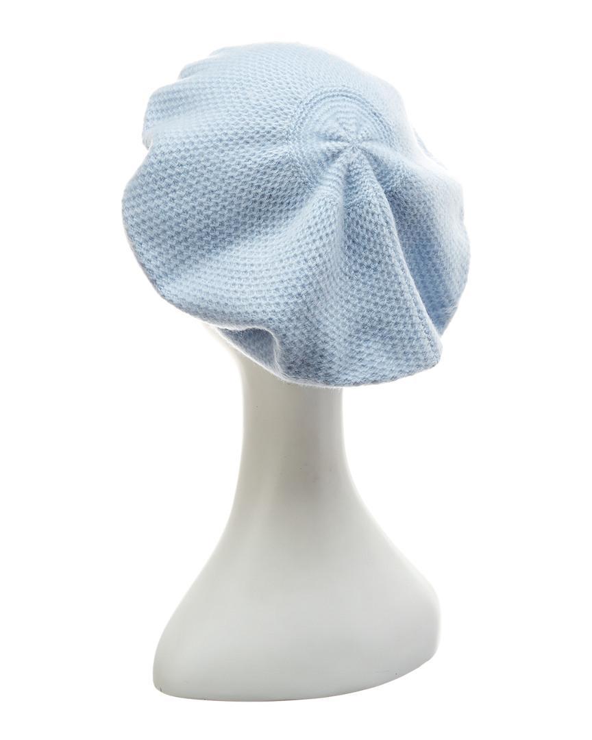 83c4f538a1e51 Lyst - Portolano Baby Blue Honeycomb Beret in Blue