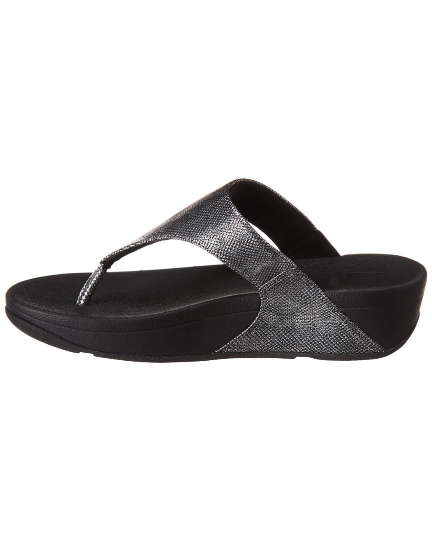 cd4c88f37668 Fitflop Lulu Toe-thong Sandal in Black - Lyst