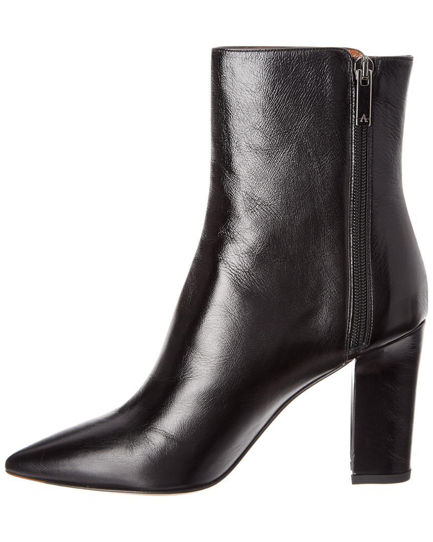 Aquatalia Hallie Waterproof Leather Bootie in Black
