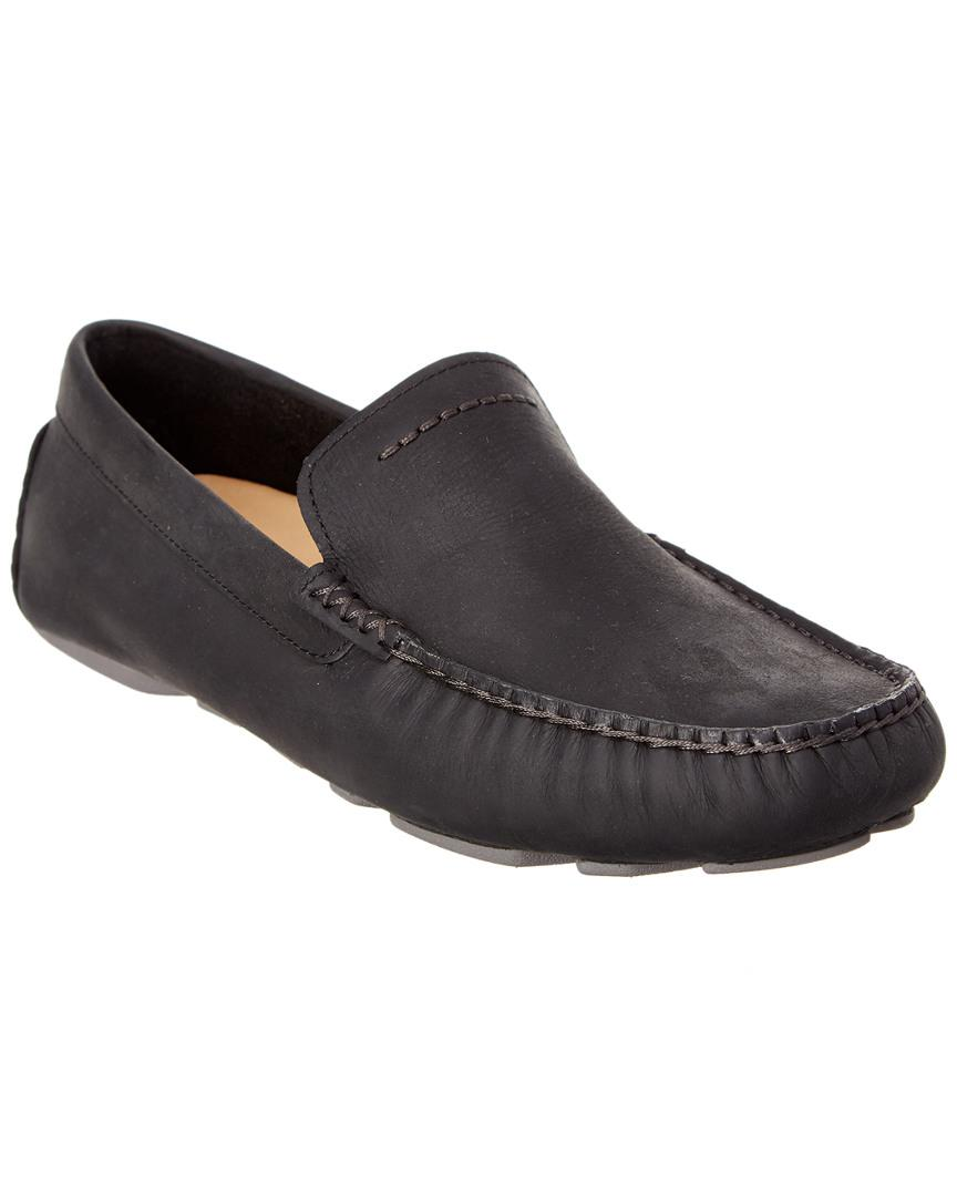 cbcc926231d Ugg Black Men's Henrick Leather Driving Moccasin for men