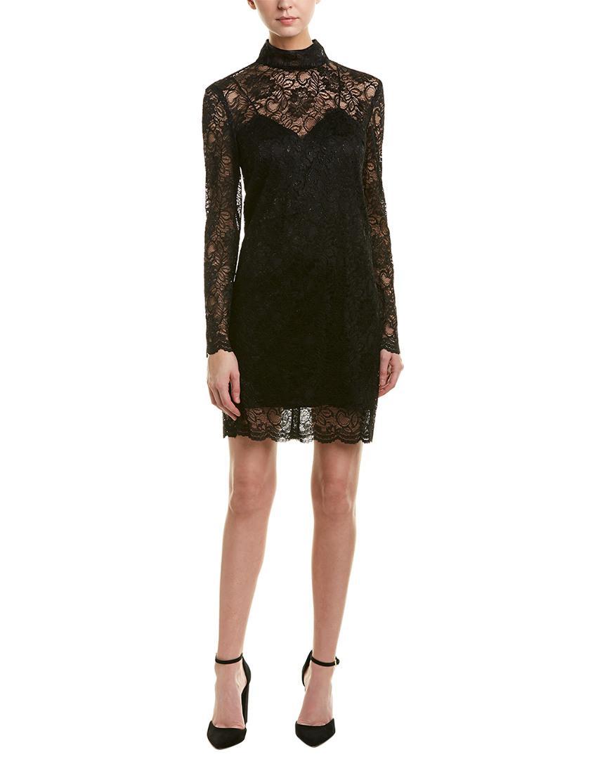 f266957b7d1 Lyst - The Kooples Lace Shift Dress in Black - Save 59%