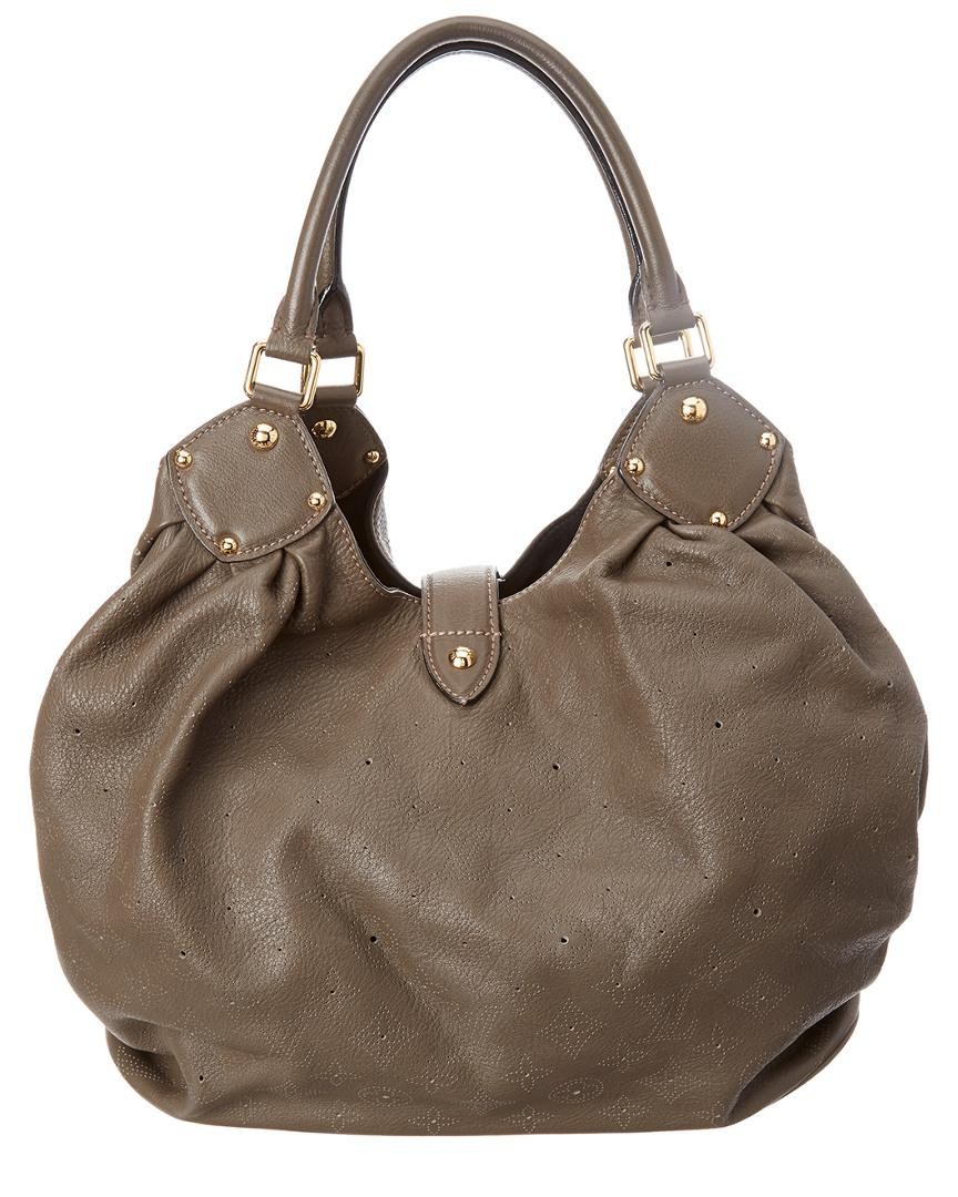 53eb7afffc33 Louis Vuitton Grey Monogram Mahina Leather Large Hobo in Brown - Lyst