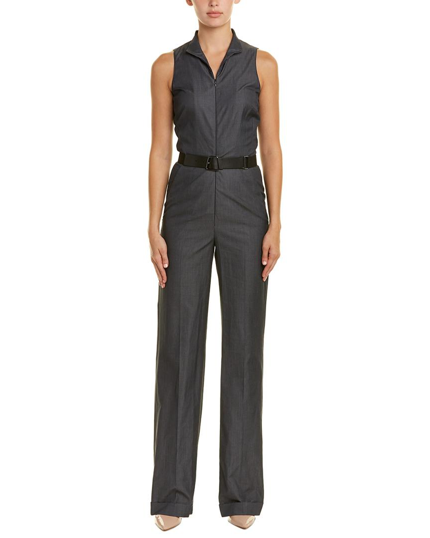 5e17b89d1a19 Lyst - Akris Silk-trim Jumpsuit in Black - Save 55%