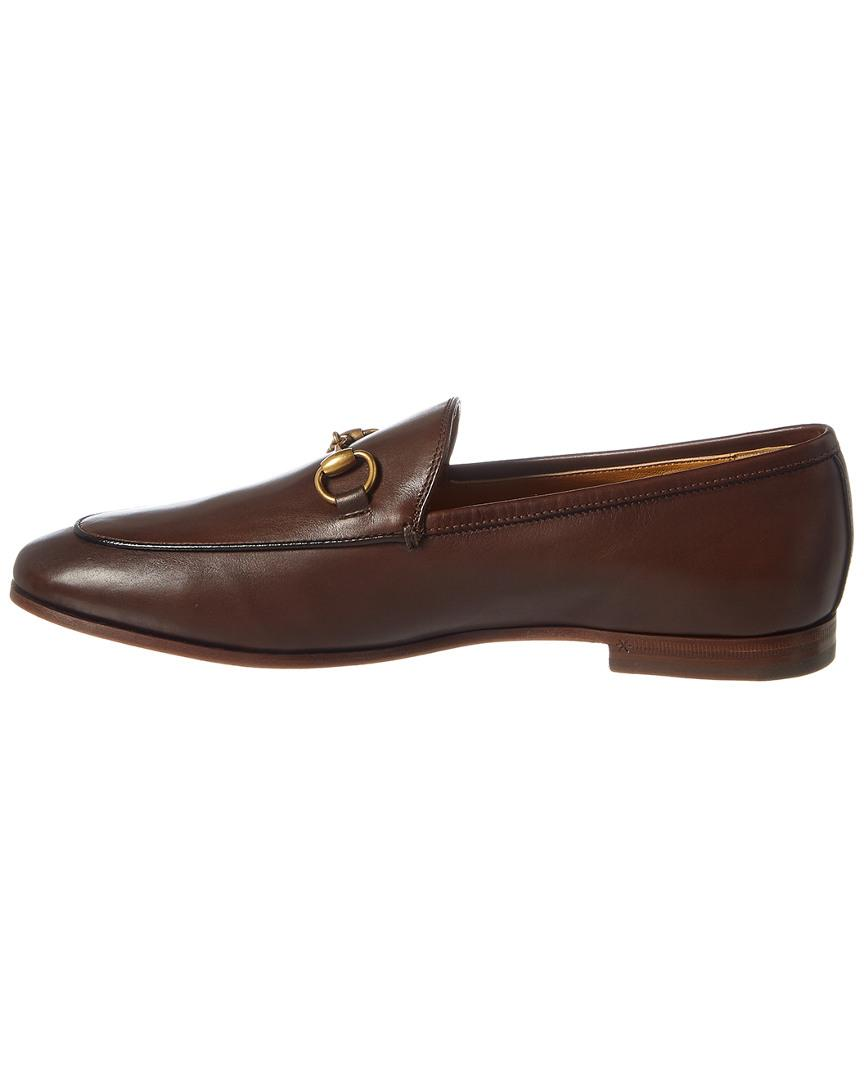9f82f9dbc13 Lyst - Gucci Jordaan Leather Loafers in Brown - Save 12%