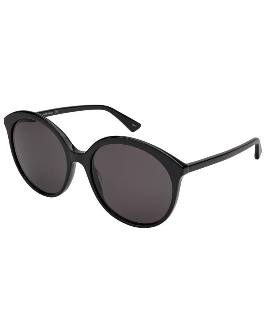 b2bb211eacd Lyst - Gucci Women s Gg0257s 59mm Sunglasses in Black