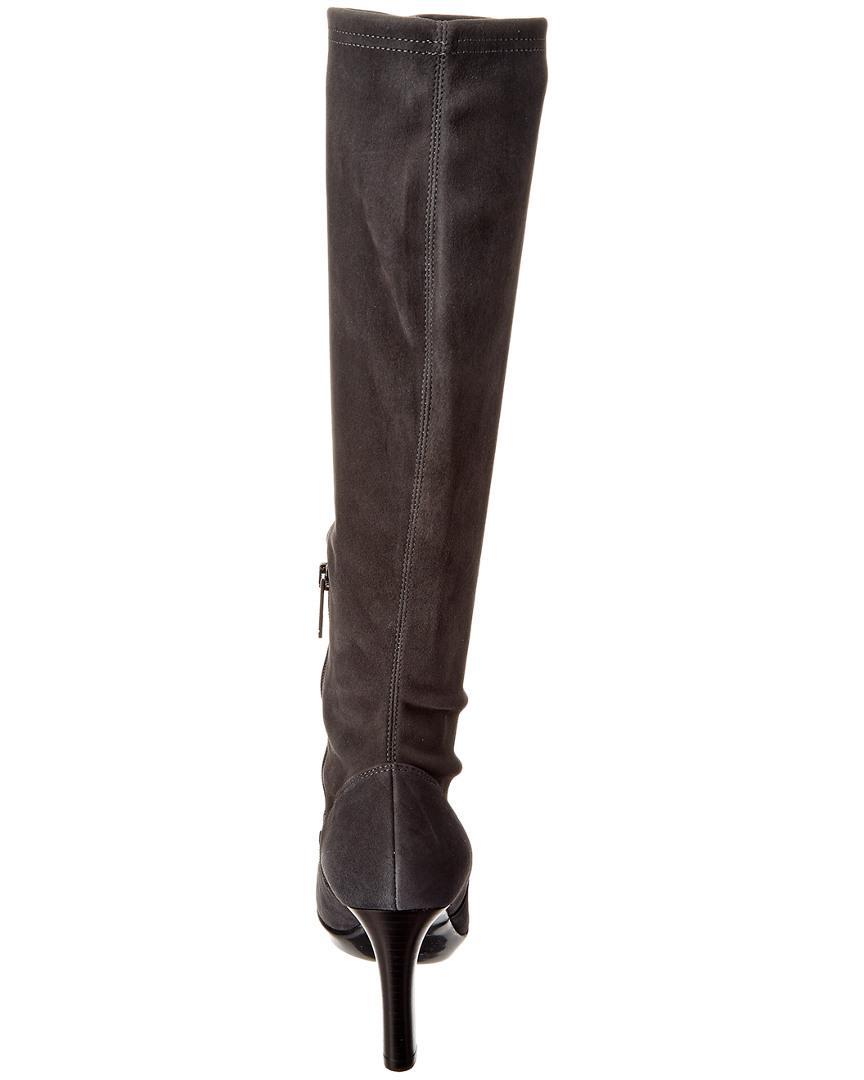 Aquatalia Rumbah Waterproof Suede Boot in Grey (Grey)