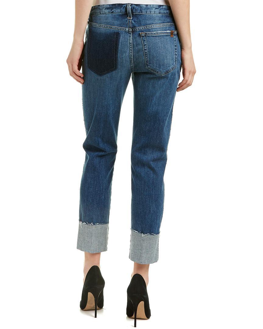 Joe's Jeans Cotton Belle Slim Boyfriend Cut in Blue