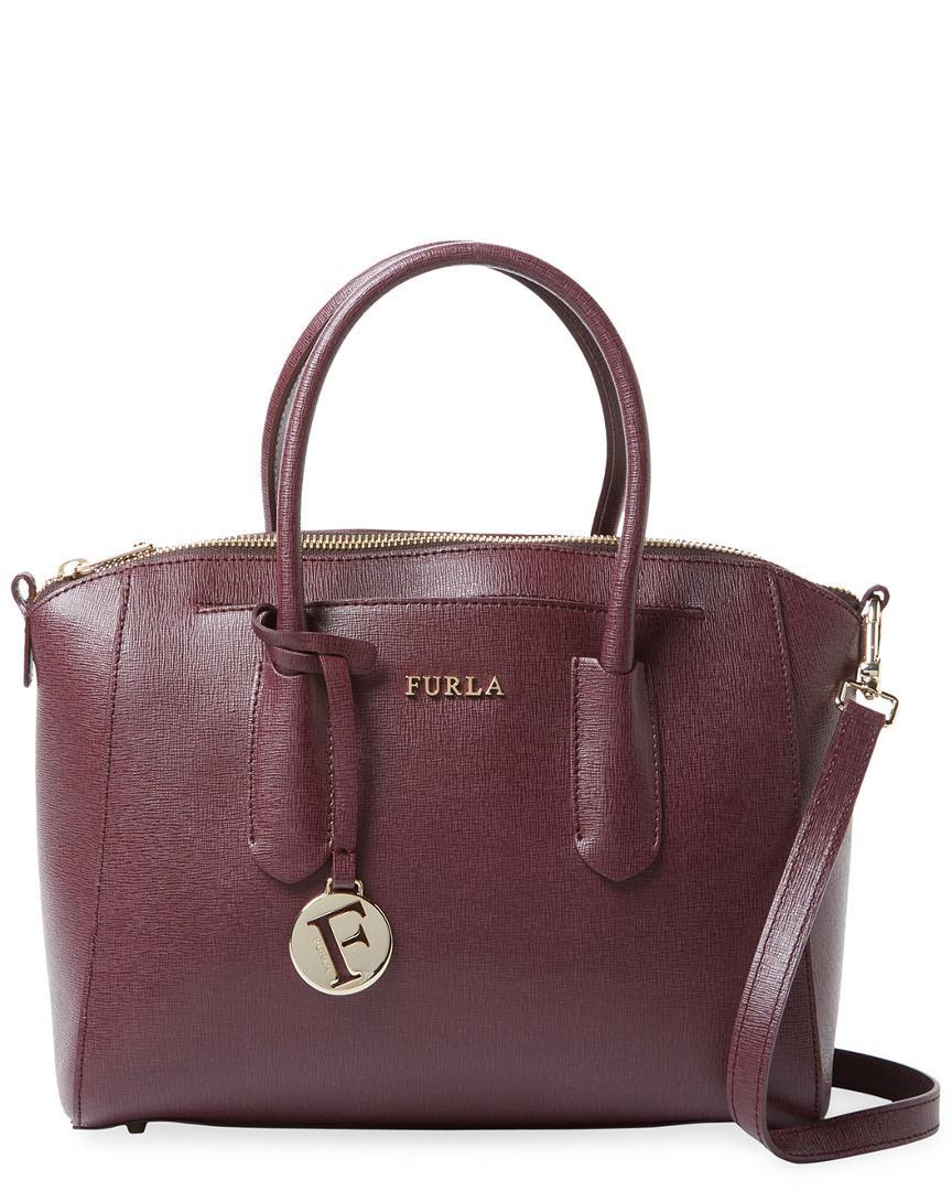 authorized site 2018 sneakers top design Furla Tessa Small Leather Satchel - Lyst