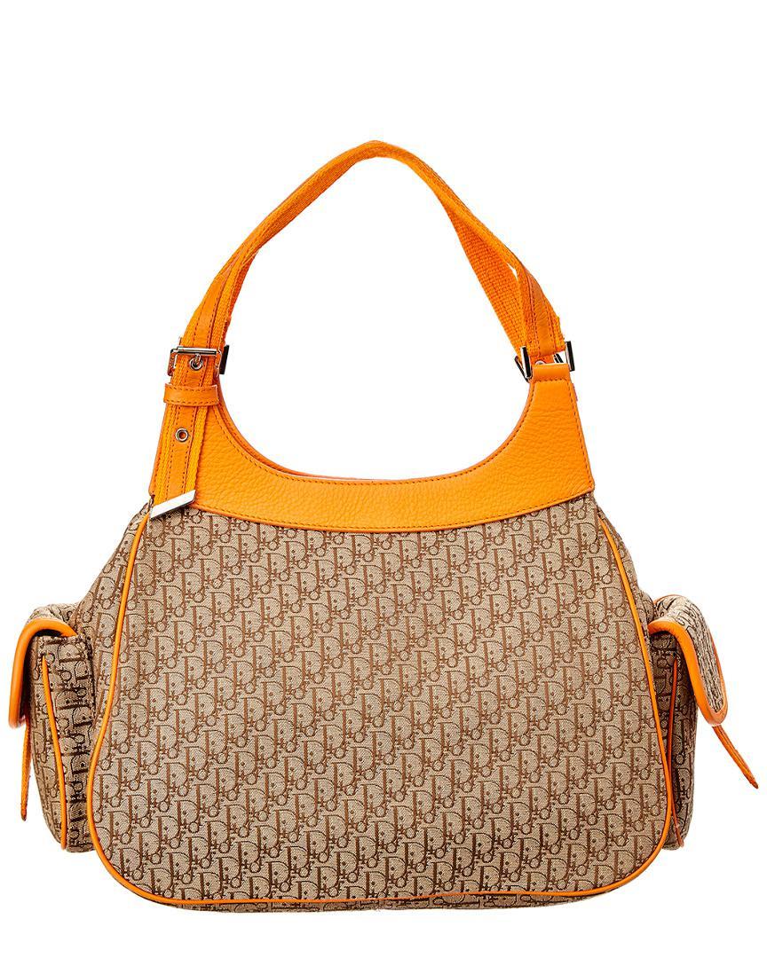 d721d45d2785 Lyst - Dior Orange Trotter Canvas Shoulder Bag in Orange