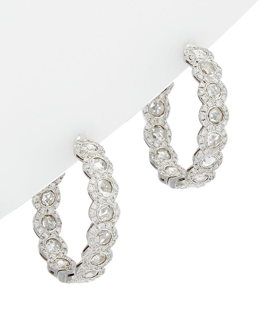 Diana M. Jewels 18k Diamond Cushion Drop Earrings XYpi7