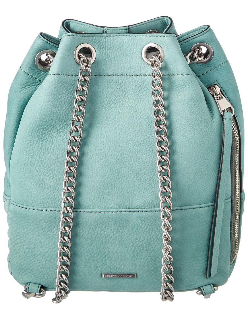 Rebecca Minkoff Becky Convertible Suede Backpack in Green