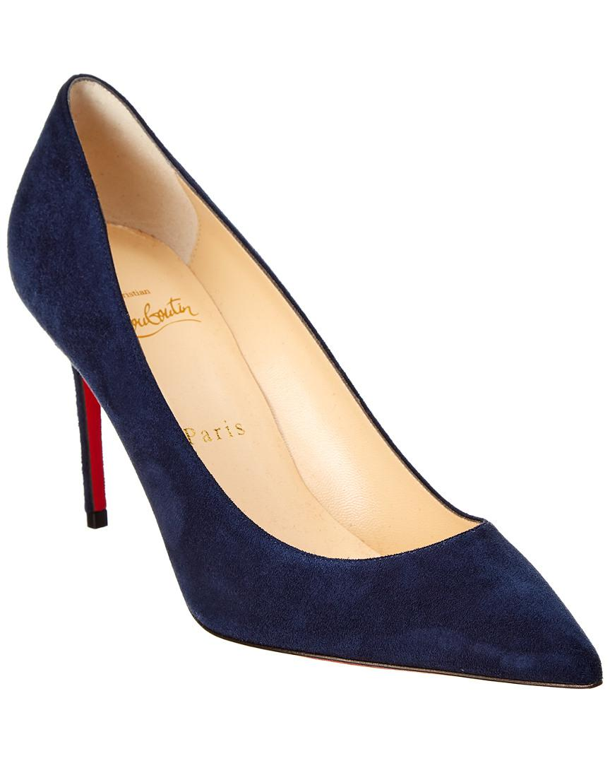 d1975fdc74b7 Lyst - Christian Louboutin Decollette 85 Suede Pump in Blue