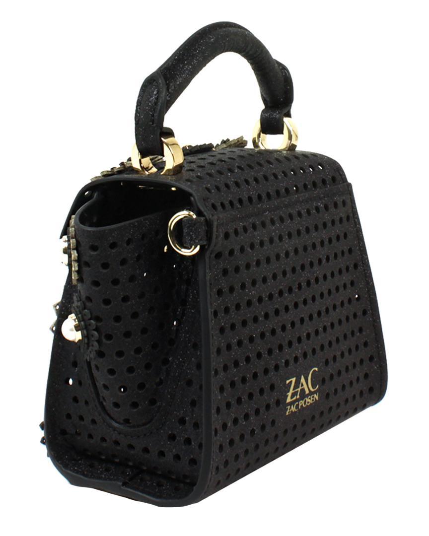 Zac Zac Posen Leather Eartha Kit Mini Top Handle In Black