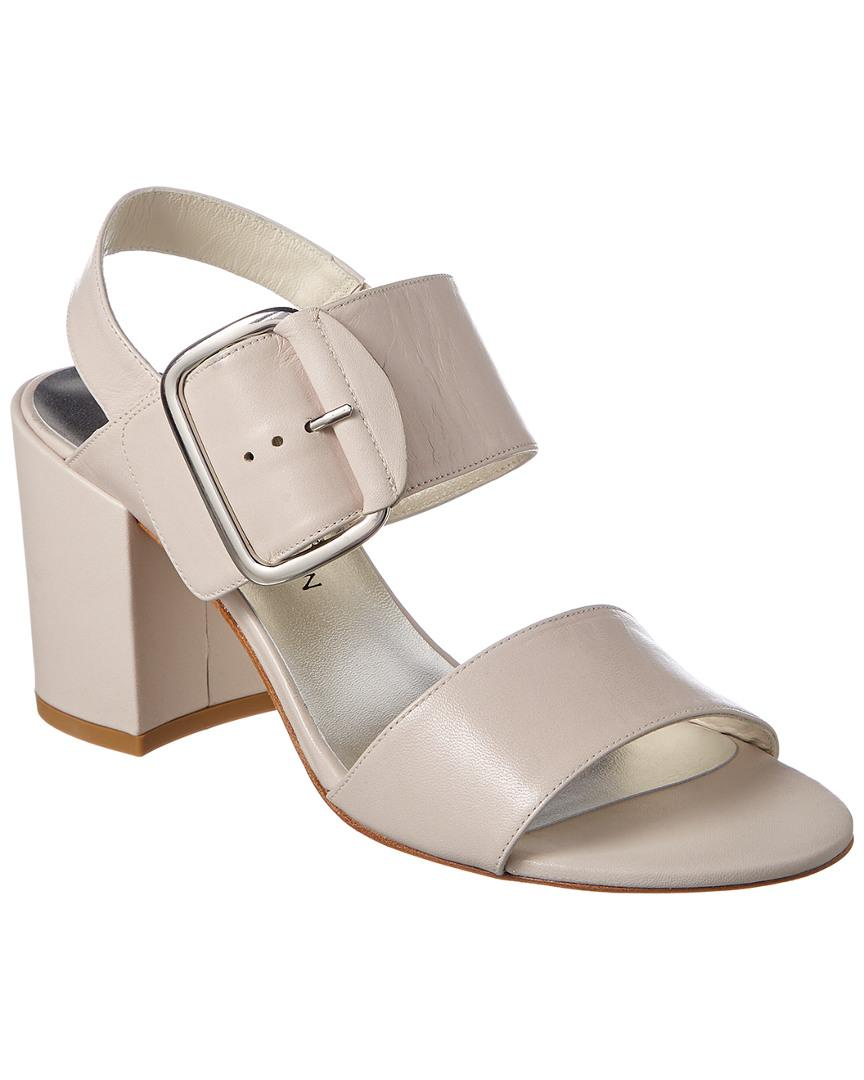 53e072a5b592 Lyst - Stuart Weitzman City Leather Sandal in White