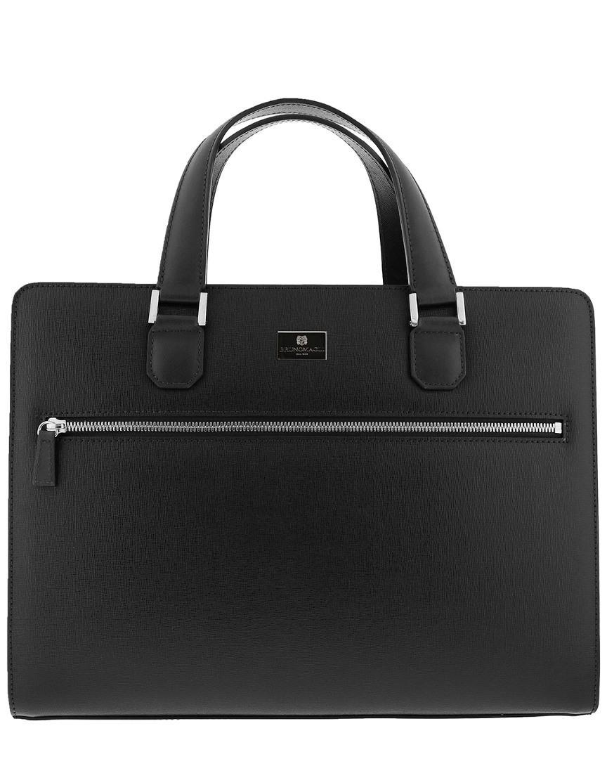 9ecb4e35c9a Lyst - Bruno Magli Men s Leather Neoclassico Briefcase in Black for Men