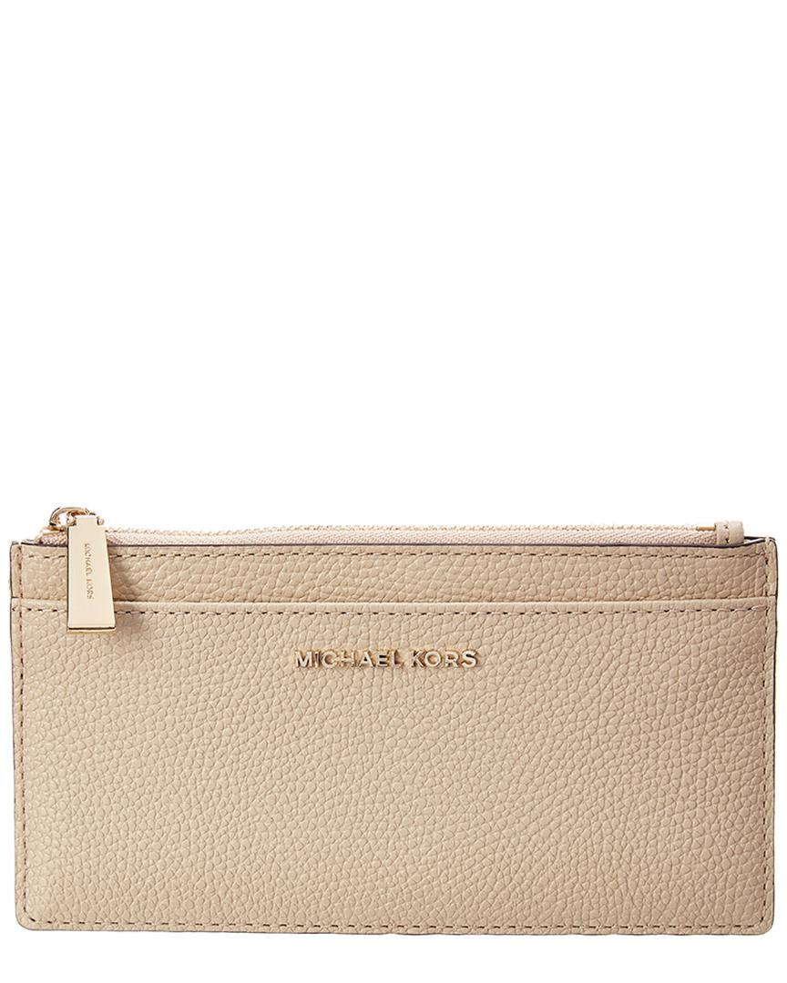 9ebee7031254 Michael Michael Kors Michael Kors Slim Large Leather Card Case - Lyst