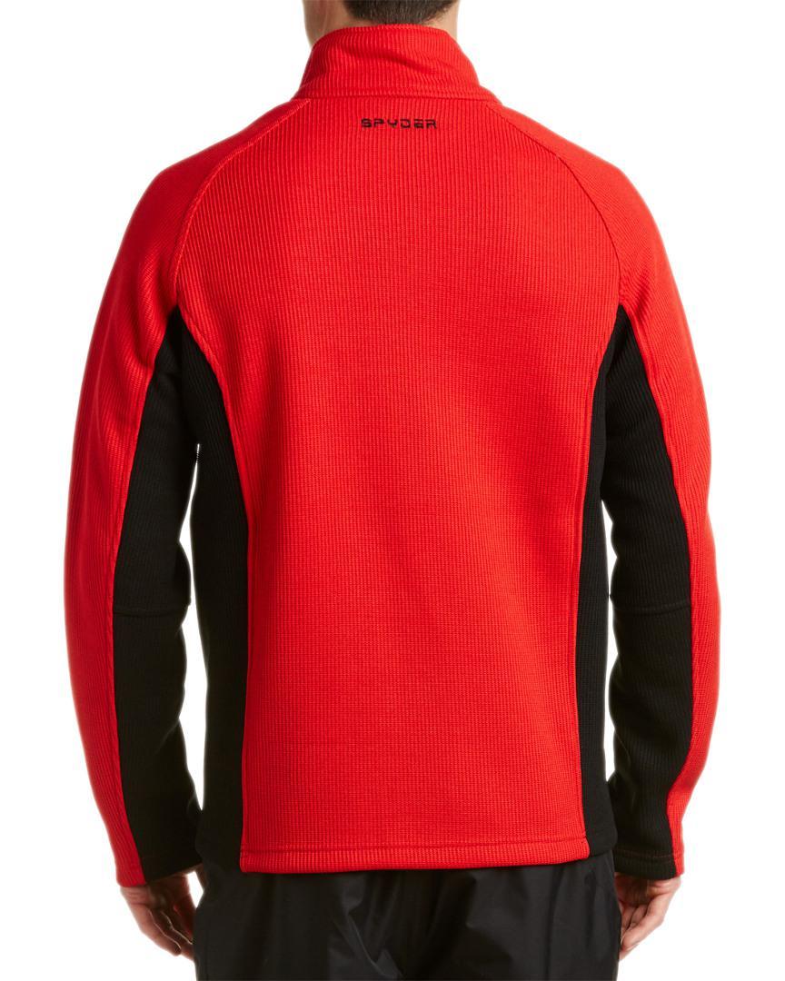 Spyder Fleece Constant Full Zip Mid Weight Jacket in Blue for Men