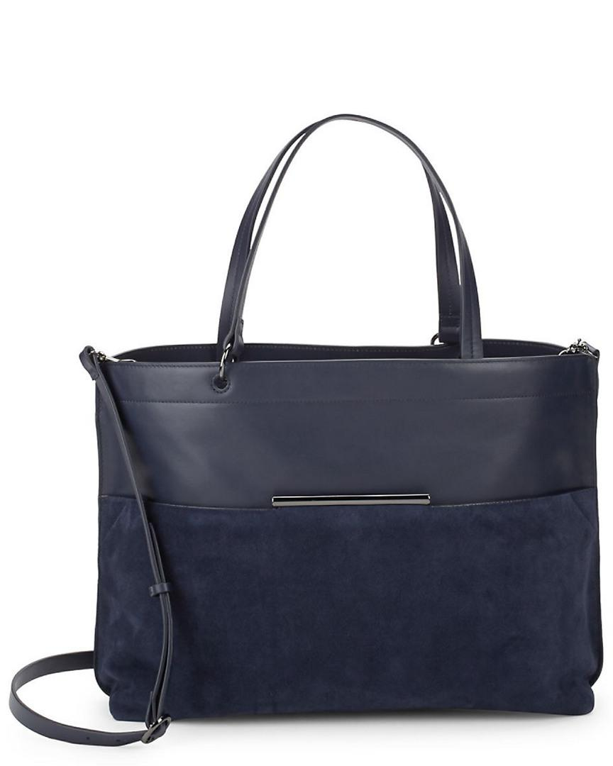 22285fafe2 Halston Versatile Leather Bag in Blue - Lyst