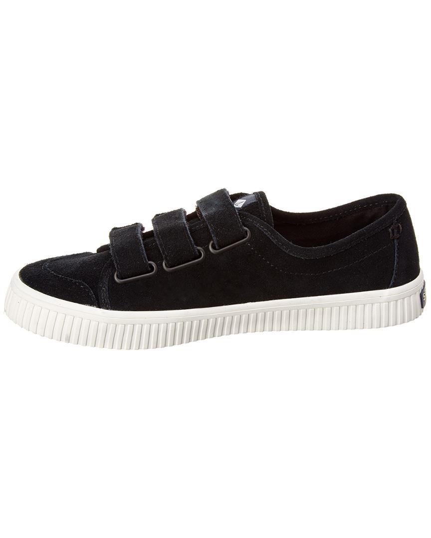 Sperry Top-Sider Women's Crest Creep Velcro Suede Sneaker in Black