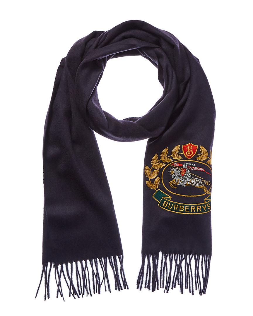 Lyst - Burberry Archive Logo Classic Cashmere Scarf in Blue for Men ed22f7c6a4