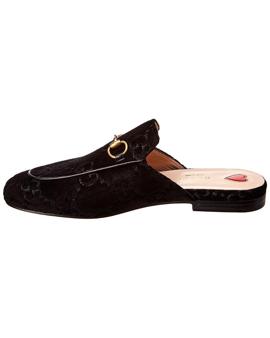 456aea5b97f Lyst - Gucci Princetown GG Slipper in Black - Save 30%
