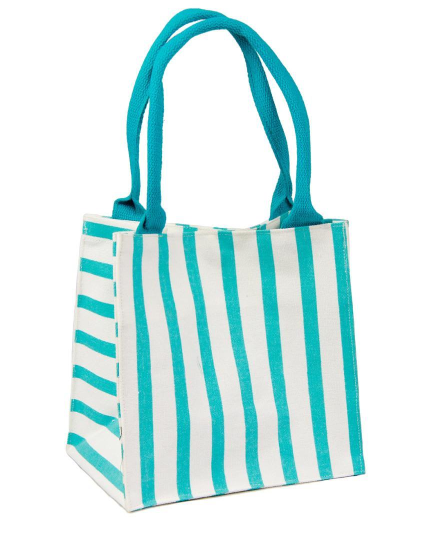 07e5327638d5 Lyst - Saachi Striped Lunch Bag in Blue