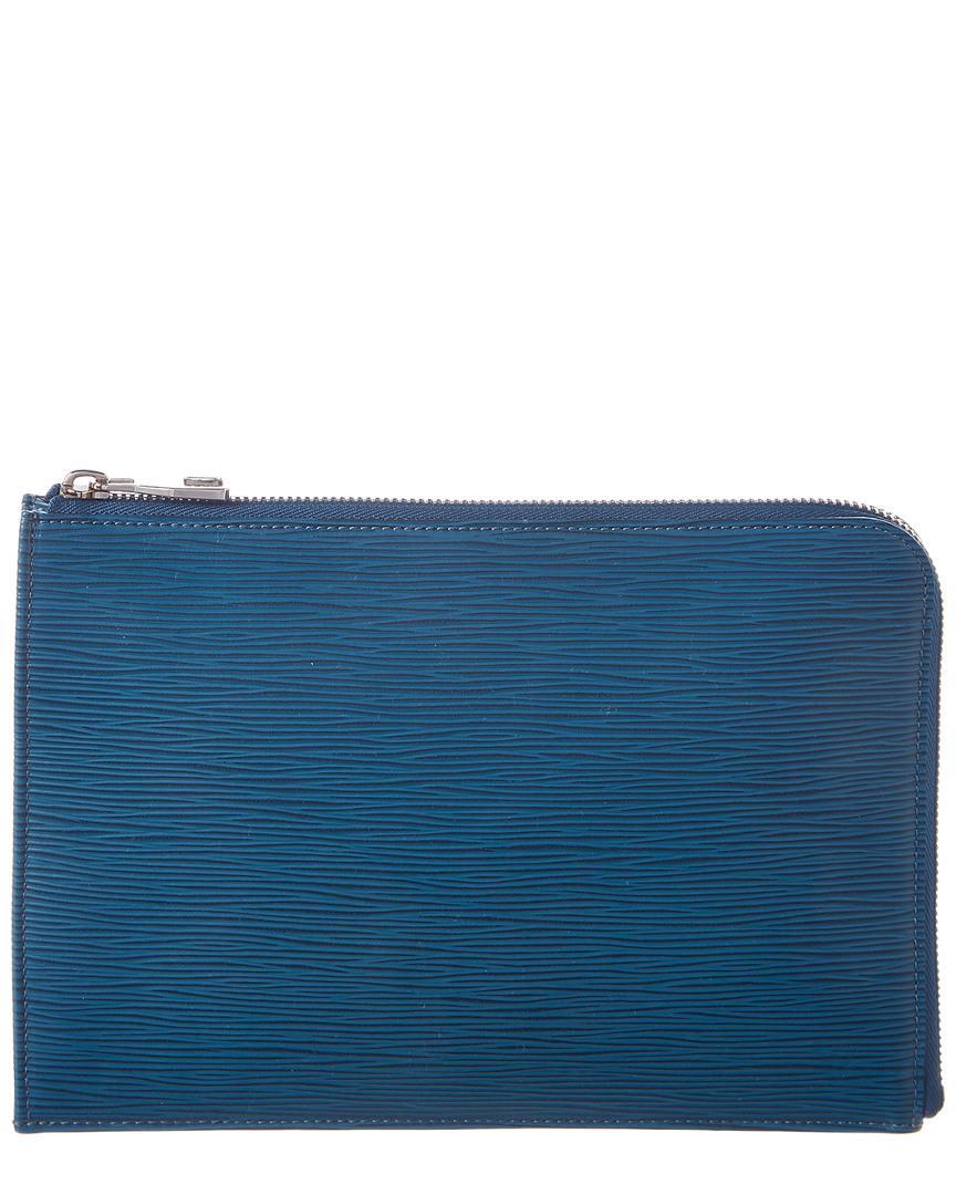 7287b26ebc Louis Vuitton Bleu Celeste Epi Leather Pochette Jour Pm in Blue - Lyst