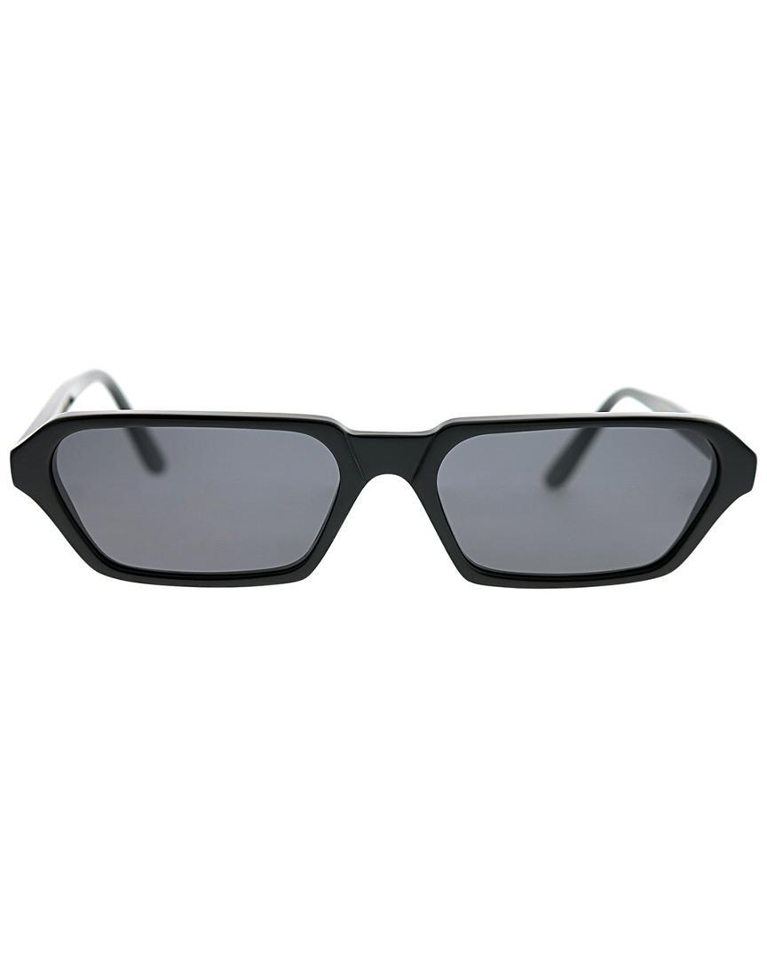 Illesteva Women's Rectangle 53mm Sunglasses in Black