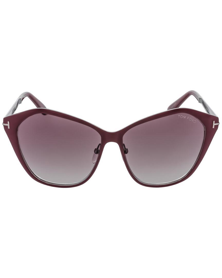 Tom Ford Lena 58mm Sunglasses