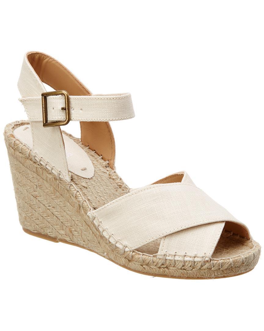 91ebdd6818fc Lyst - Soludos Crisscross Wedge Sandal in Natural