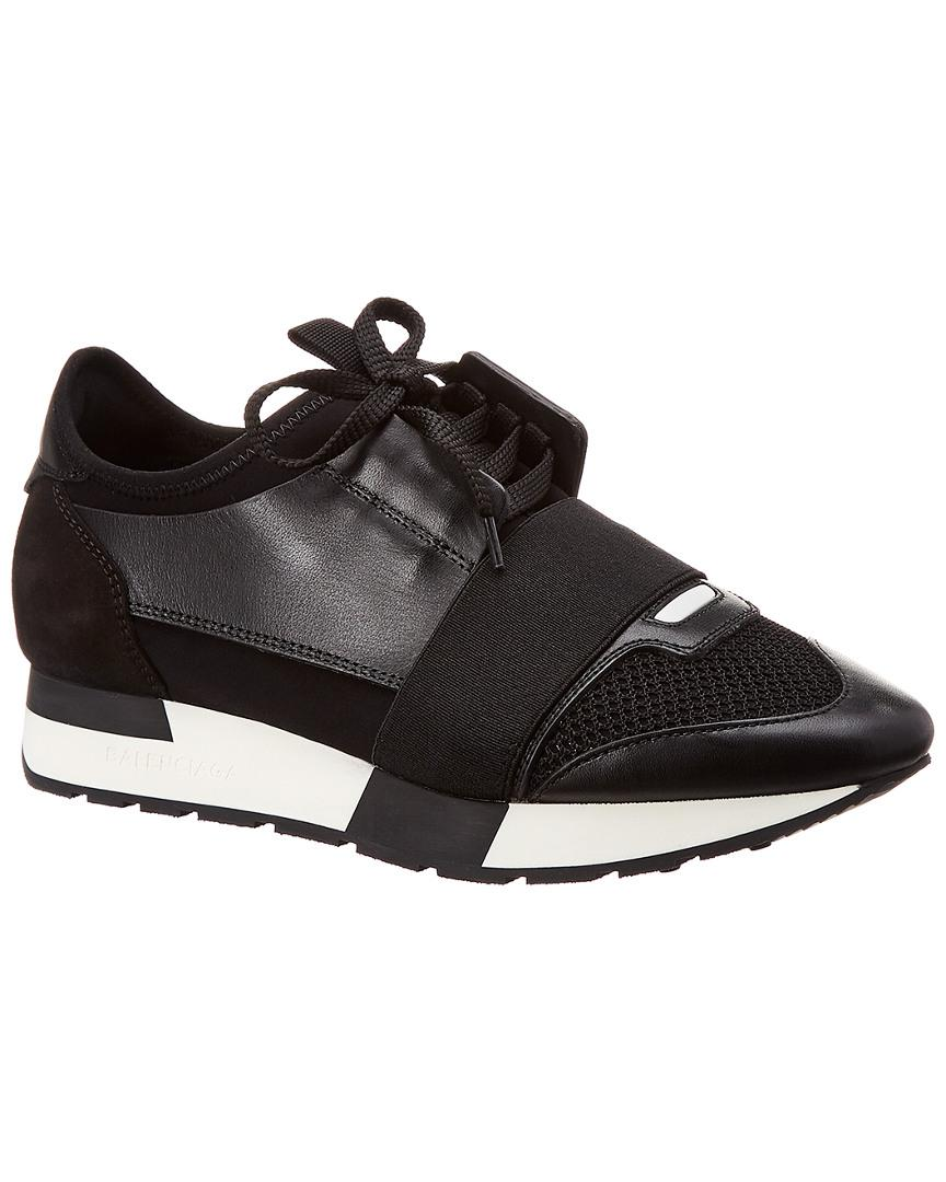 81581ded9bb15 Balenciaga Black Race Runner Sneakers in Black - Save 42% - Lyst