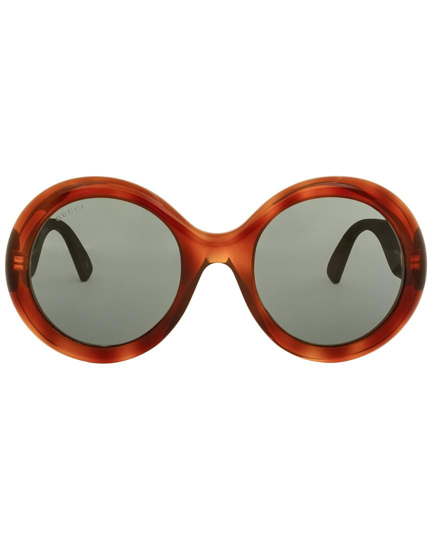 dfd80feb46b71 Lyst - Gucci GG0101S 53mm Sunglasses in Brown - Save 20.400000000000006%