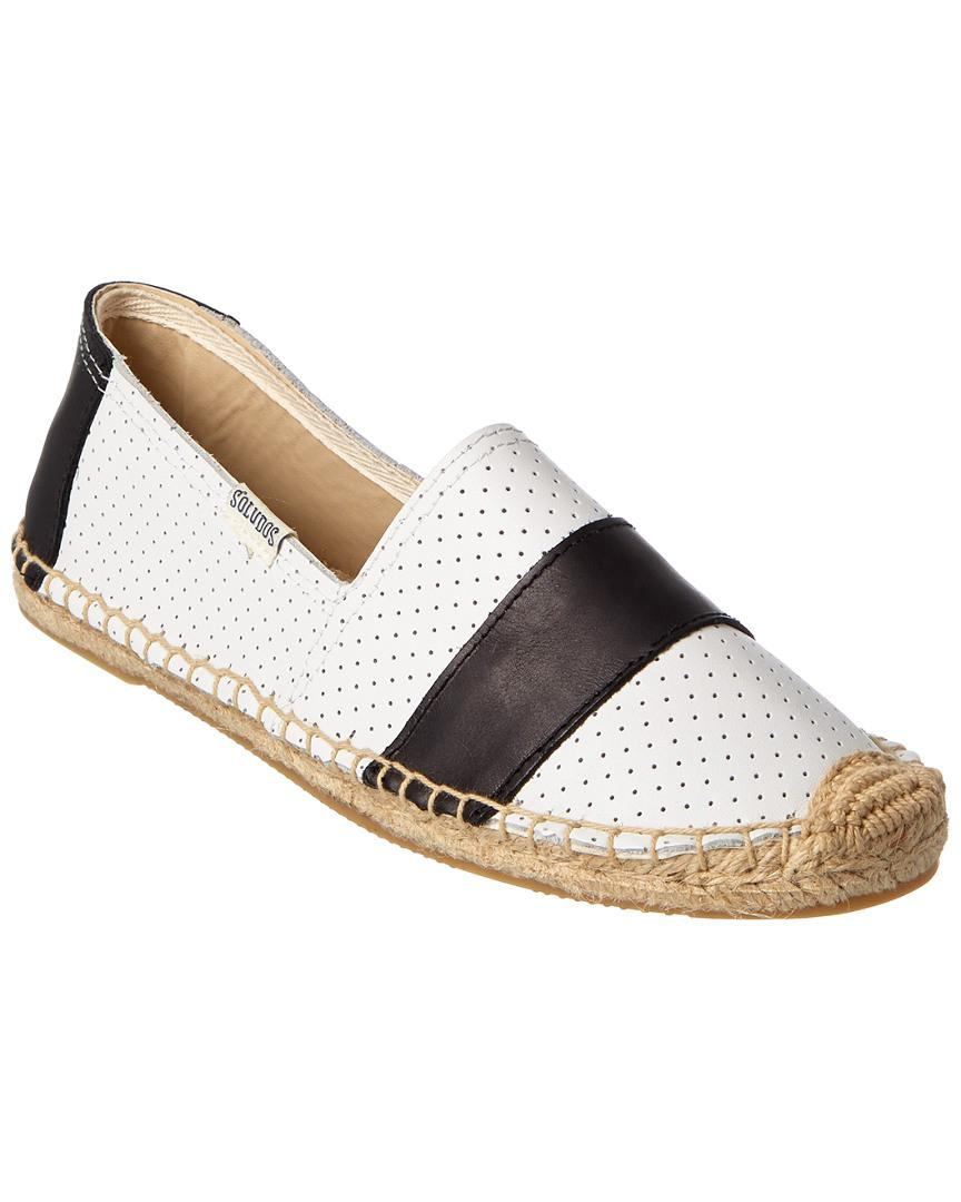 5af852413 Soludos Original Barca Perforated Leather Flat in White - Lyst