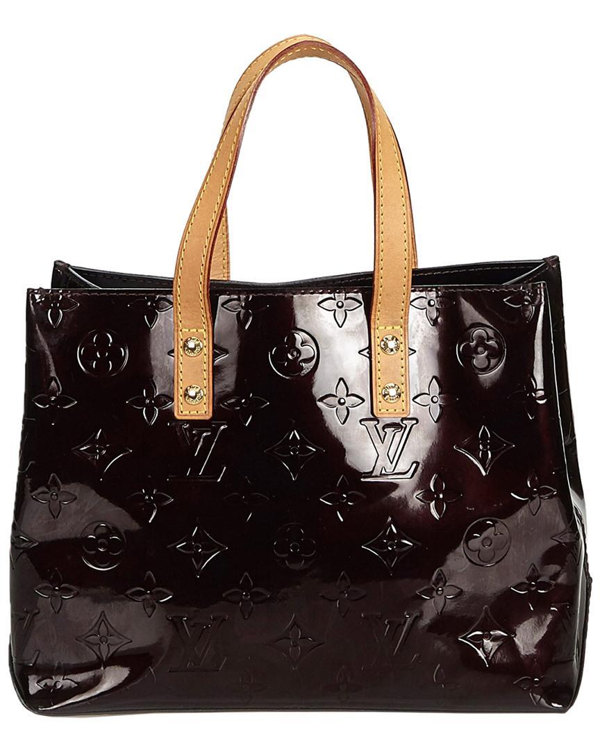 bd35e0176e6f Lyst - Louis Vuitton Purple Monogram Vernis Leather Reade Pm in Black