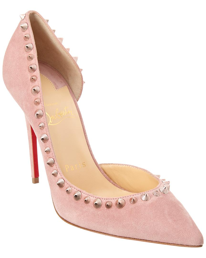fe198d0d895 Christian Louboutin Pink Irishell 100 Suede D'orsay Pump