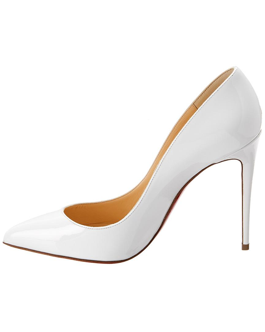 c1b6611293b Christian Louboutin Pigalle Follies Patent Pump in White - Lyst
