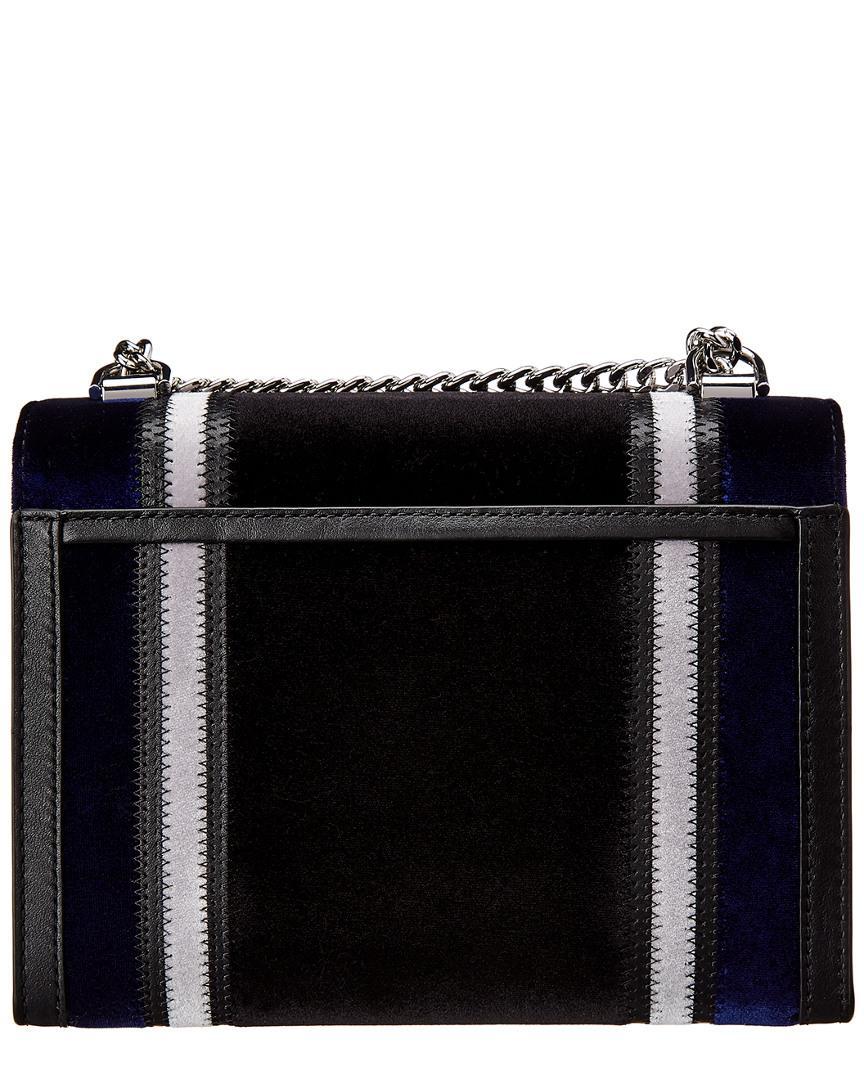 Lyst - Michael Michael Kors Michael Kors Whitney Large Velvet Shoulder Bag  in Black e062041c7c051