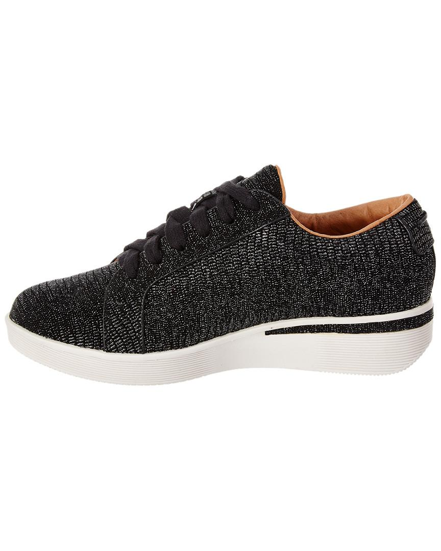 Gentle Souls Haddie Leather Sneaker in Black
