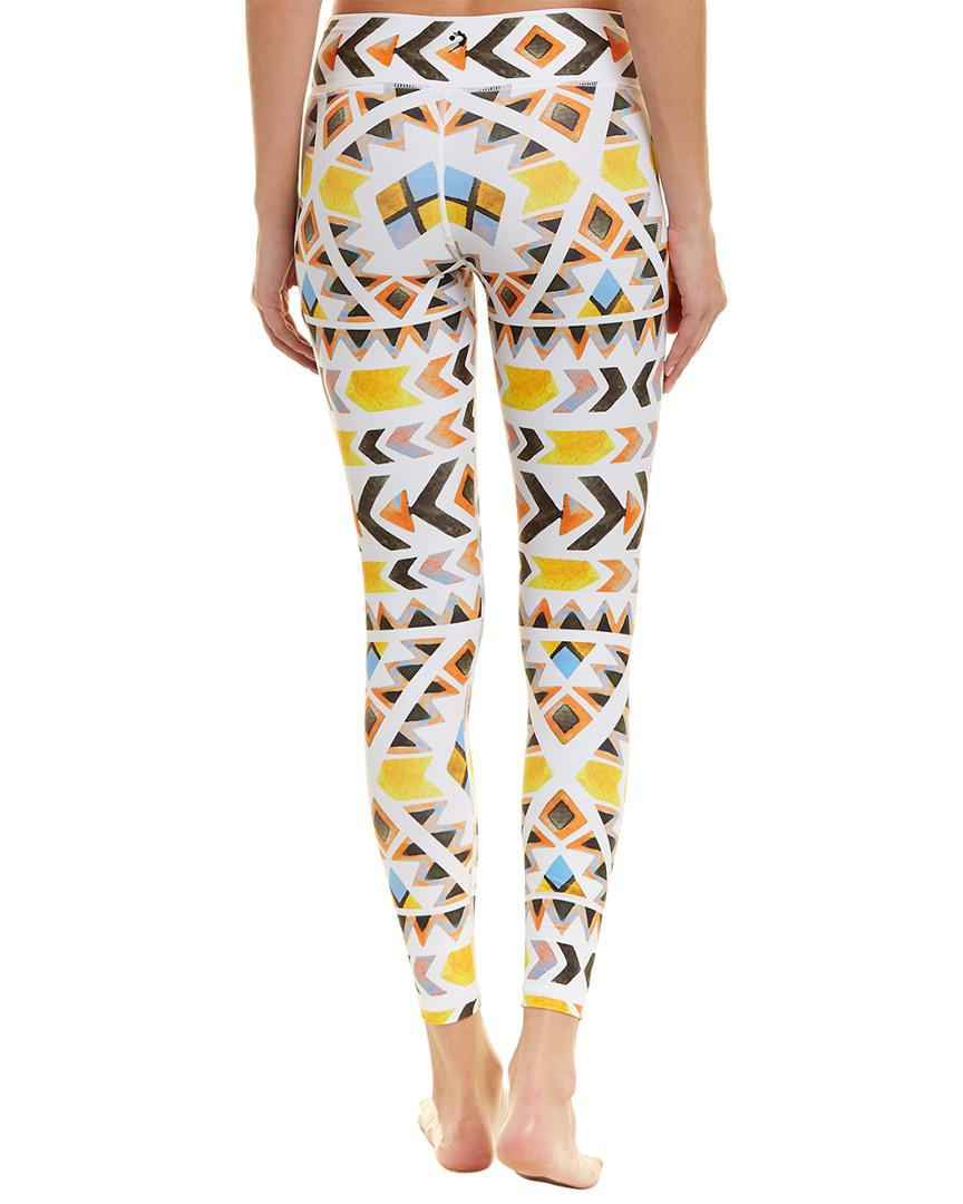 23d89757c55d Lyst - Chrldr Printed Legging in White