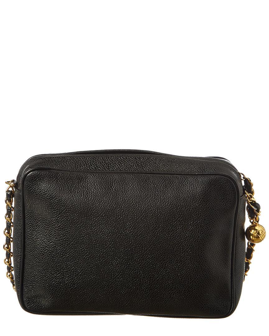 c3f781d5d69fa2 Chanel Black Caviar Leather 3 Cc Camera Bag in Black - Lyst