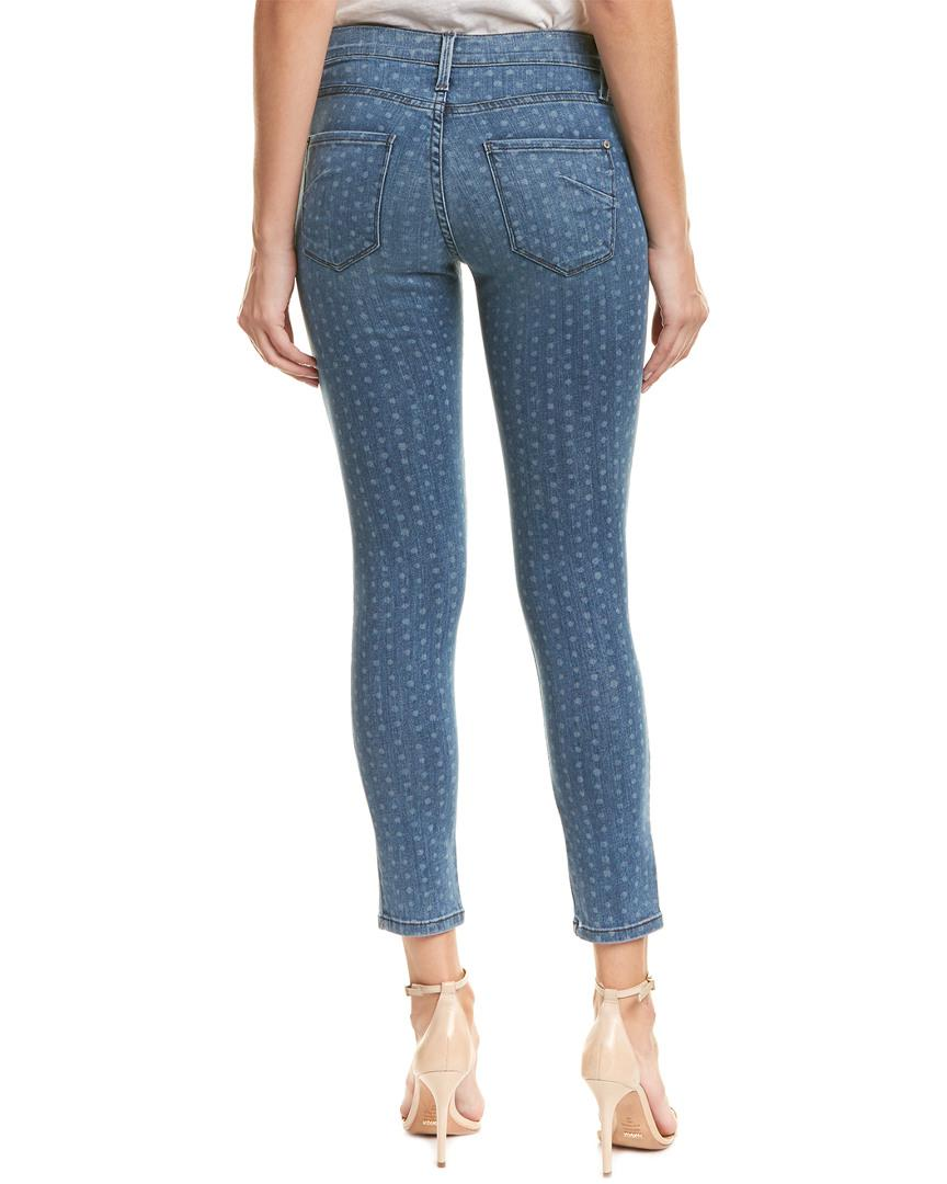 James Jeans Cotton James Twiggy Forever Blue Polka Dot Ankle Cut